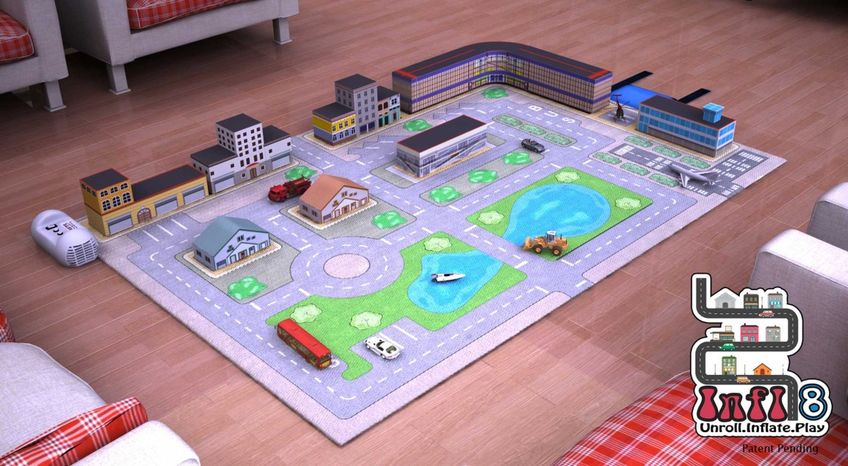 Digital Prototype Rendering Infl-8 City Play Mat